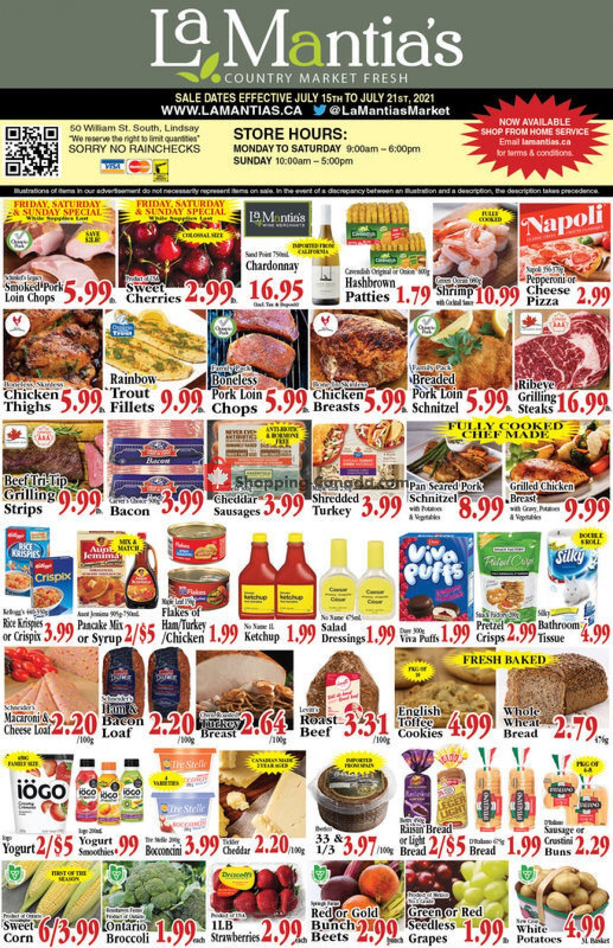 Flyer Lamantia's Country Market Canada - from Thursday July 15, 2021 to Wednesday July 21, 2021