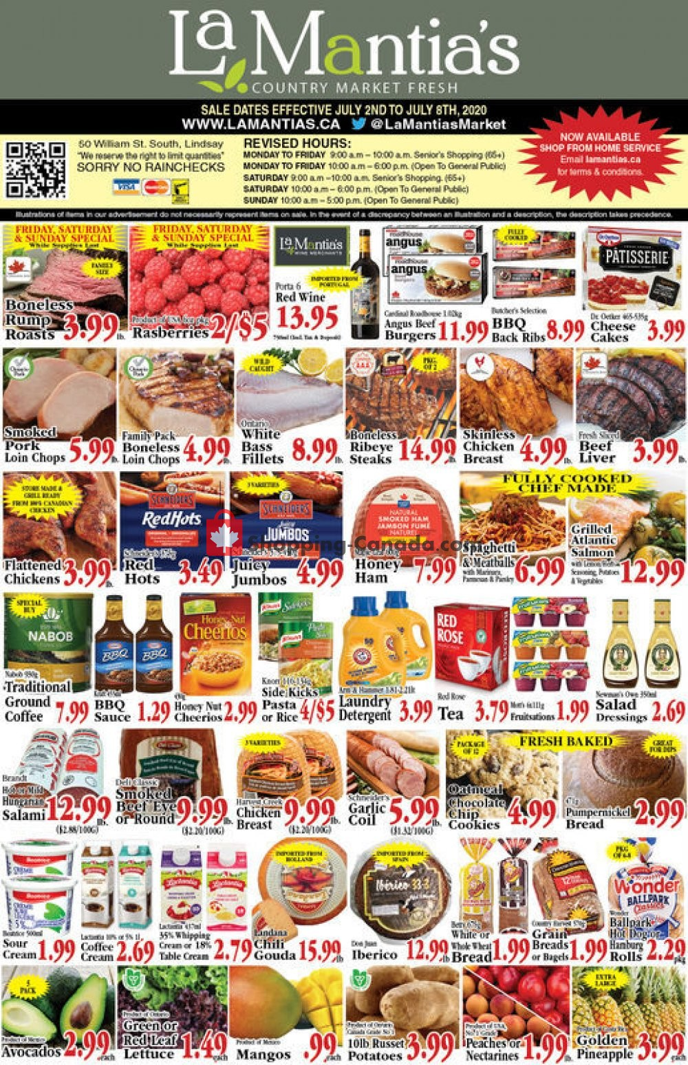 Flyer Lamantia's Country Market Canada - from Thursday July 2, 2020 to Wednesday July 8, 2020