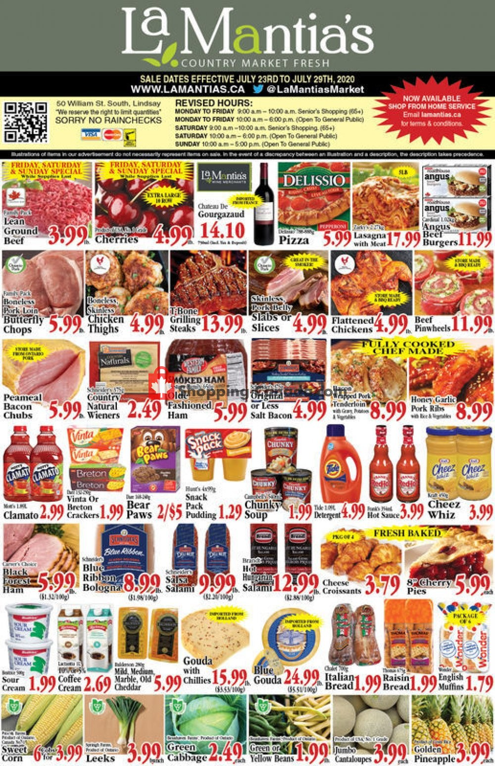 Flyer Lamantia's Country Market Canada - from Thursday July 23, 2020 to Wednesday July 29, 2020