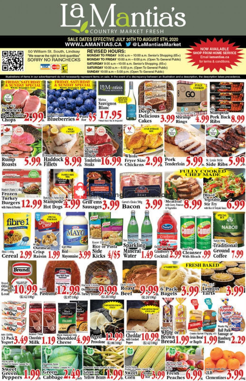 Flyer Lamantia's Country Market Canada - from Thursday July 30, 2020 to Wednesday August 5, 2020