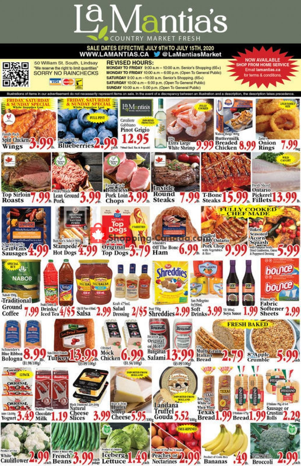 Flyer Lamantia's Country Market Canada - from Thursday July 9, 2020 to Wednesday July 15, 2020