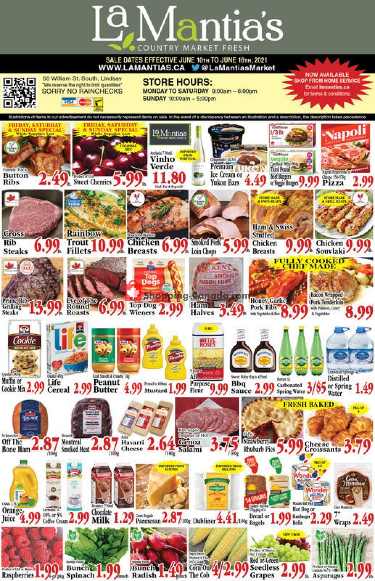 Flyer Lamantia's Country Market Canada - from Thursday June 10, 2021 to Wednesday June 16, 2021