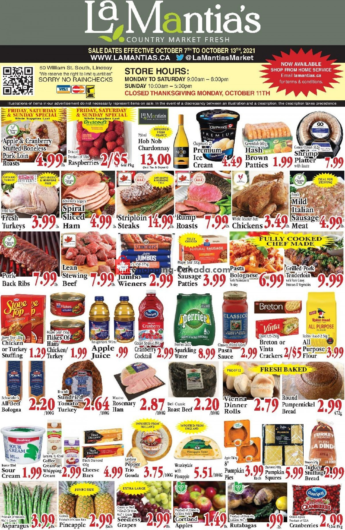 Flyer Lamantia's Country Market Canada - from Thursday October 7, 2021 to Wednesday October 13, 2021