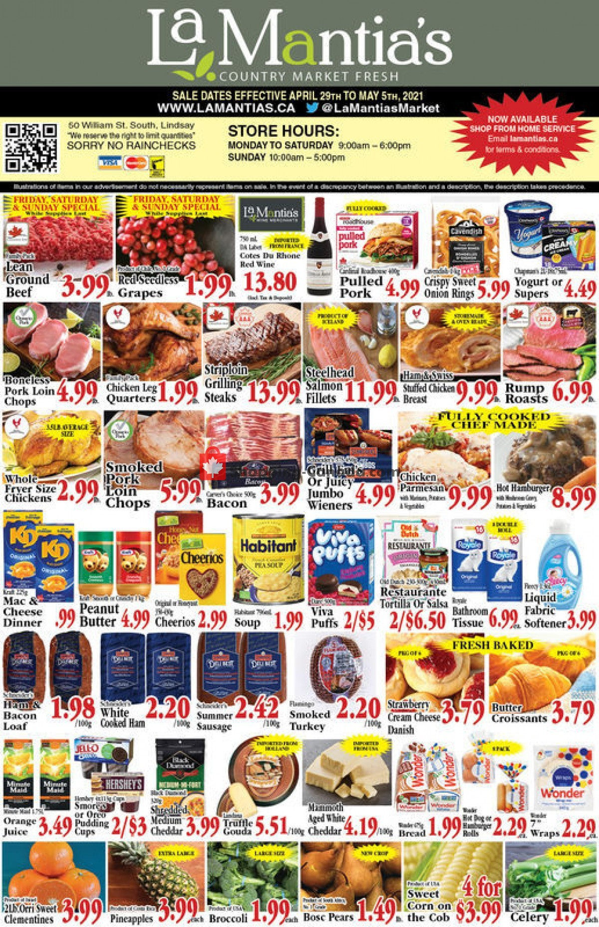 Flyer Lamantia's Country Market Canada - from Thursday April 29, 2021 to Wednesday May 5, 2021