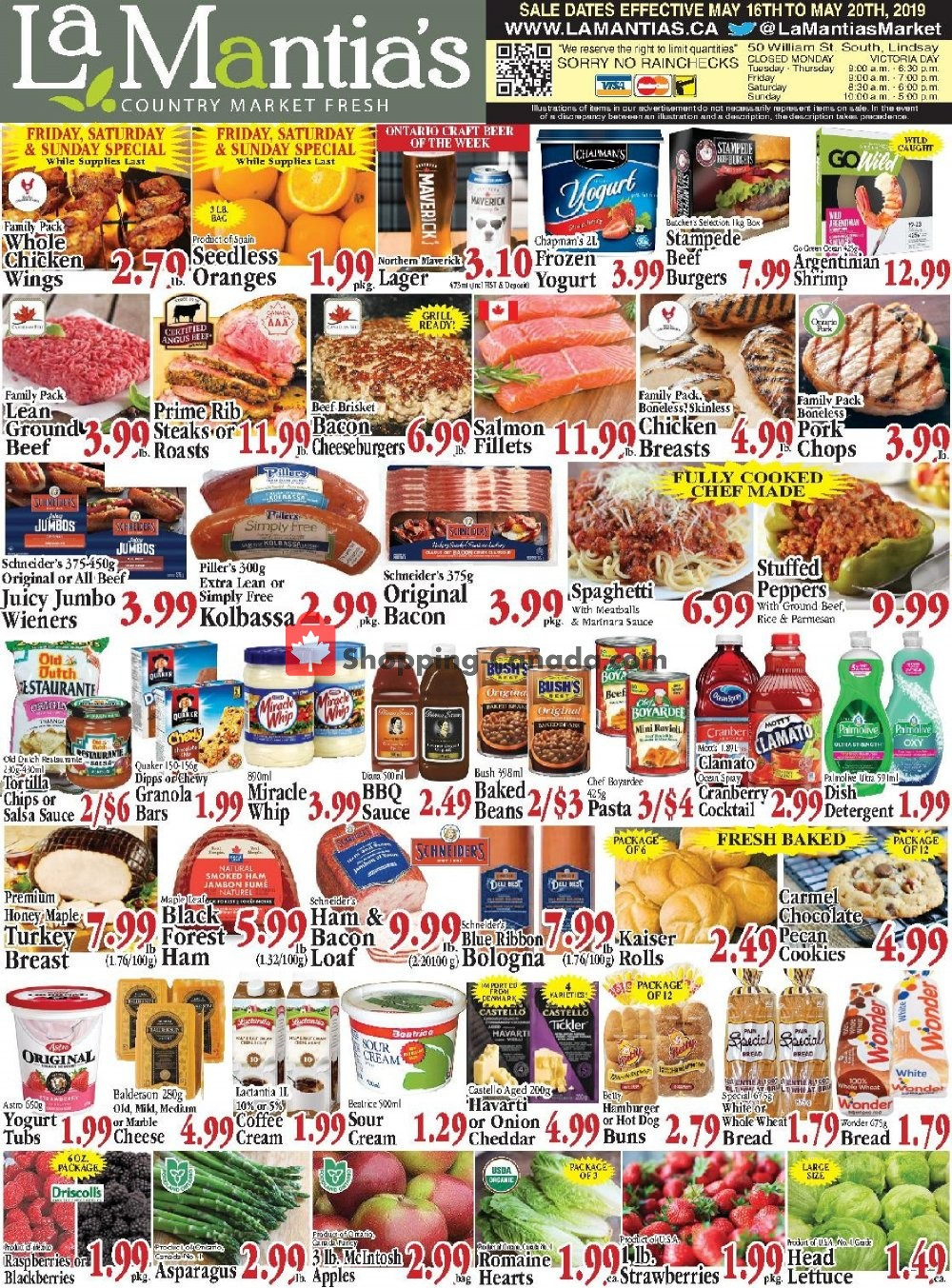 Flyer Lamantia's Country Market Canada - from Thursday May 16, 2019 to Monday May 20, 2019