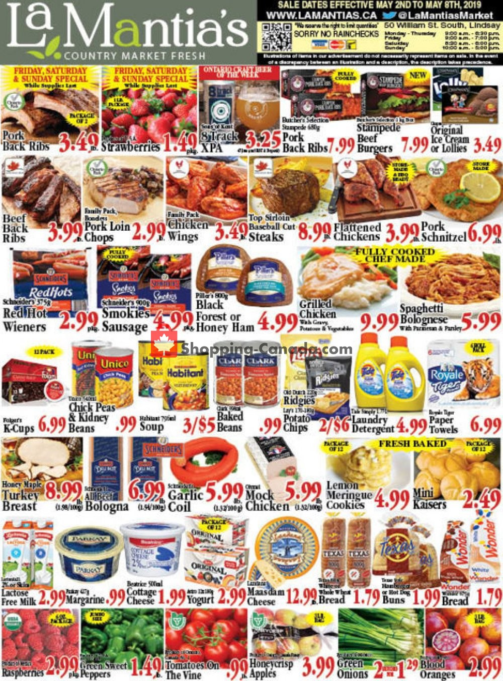 Flyer Lamantia's Country Market Canada - from Thursday May 2, 2019 to Wednesday May 8, 2019