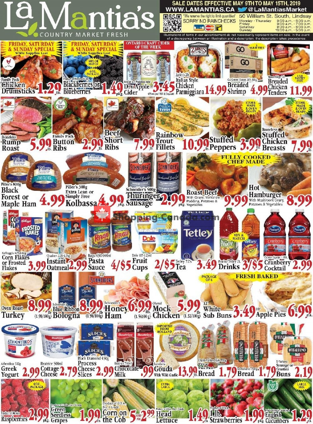 Flyer Lamantia's Country Market Canada - from Thursday May 9, 2019 to Wednesday May 15, 2019