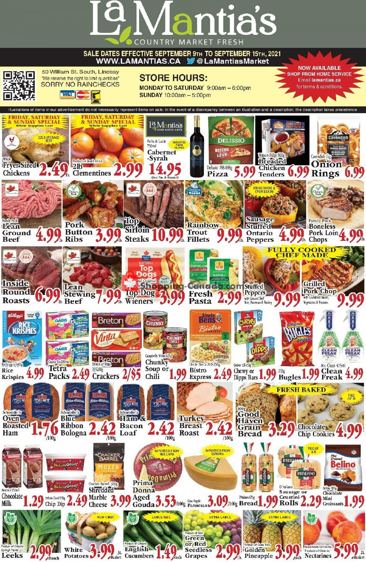 Flyer Lamantia's Country Market Canada - from Thursday September 9, 2021 to Wednesday September 15, 2021