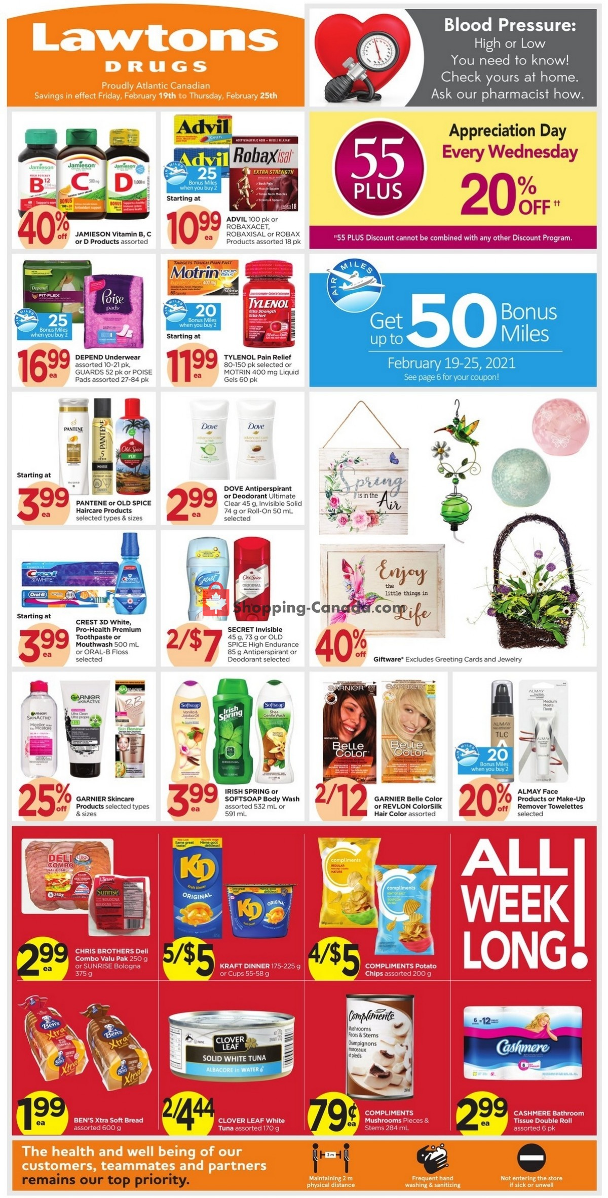 Flyer Lawtons Drugs Canada - from Friday February 19, 2021 to Thursday February 25, 2021