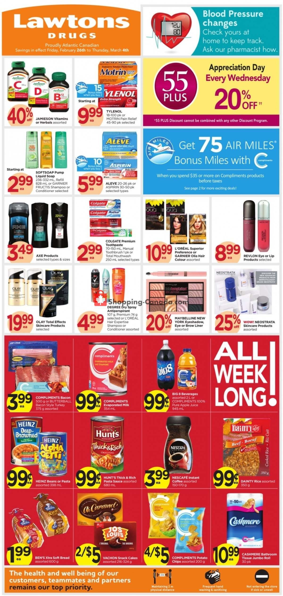 Flyer Lawtons Drugs Canada - from Friday February 26, 2021 to Thursday March 4, 2021