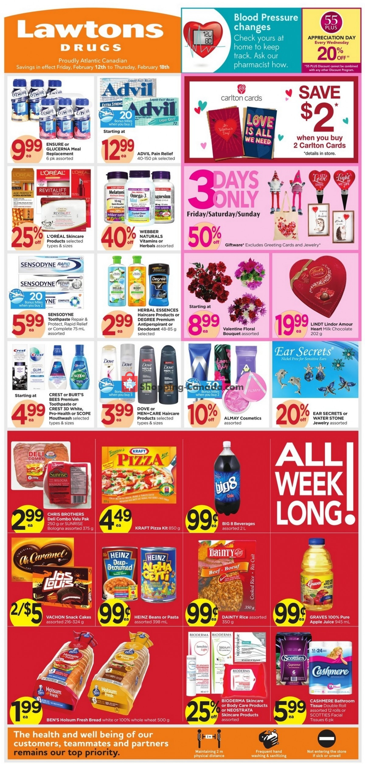 Flyer Lawtons Drugs Canada - from Friday February 12, 2021 to Thursday February 18, 2021