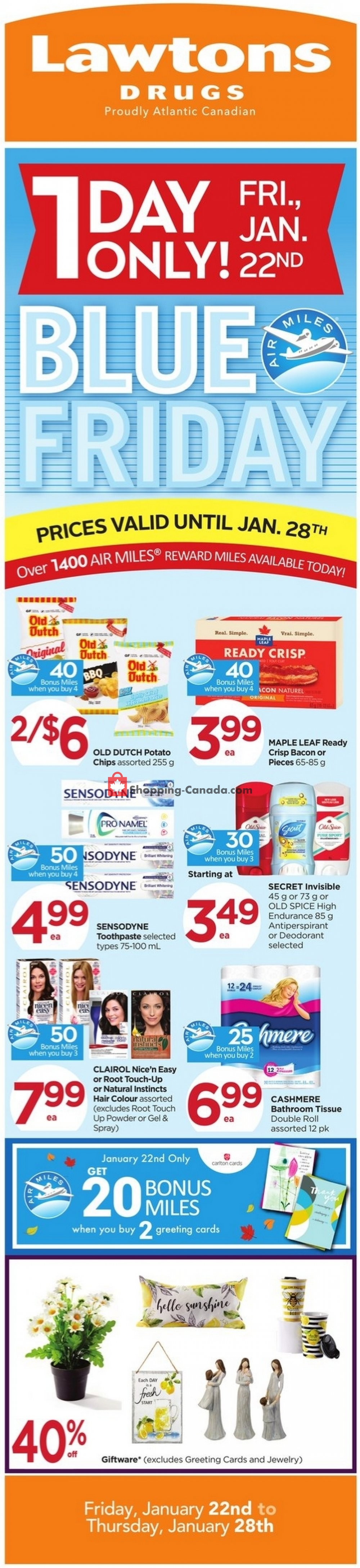 Flyer Lawtons Drugs Canada - from Friday January 22, 2021 to Thursday January 28, 2021