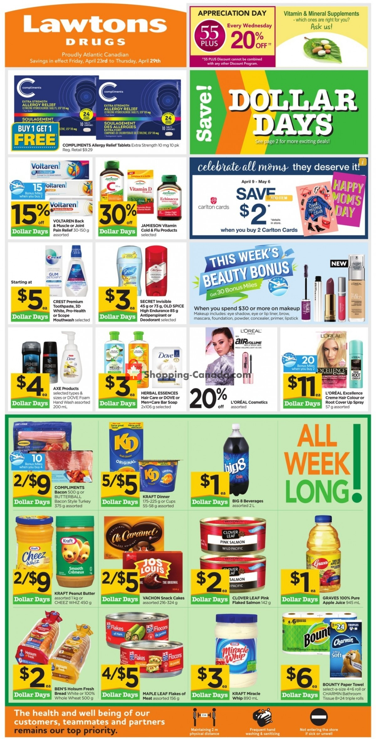 Flyer Lawtons Drugs Canada - from Friday April 23, 2021 to Thursday April 29, 2021