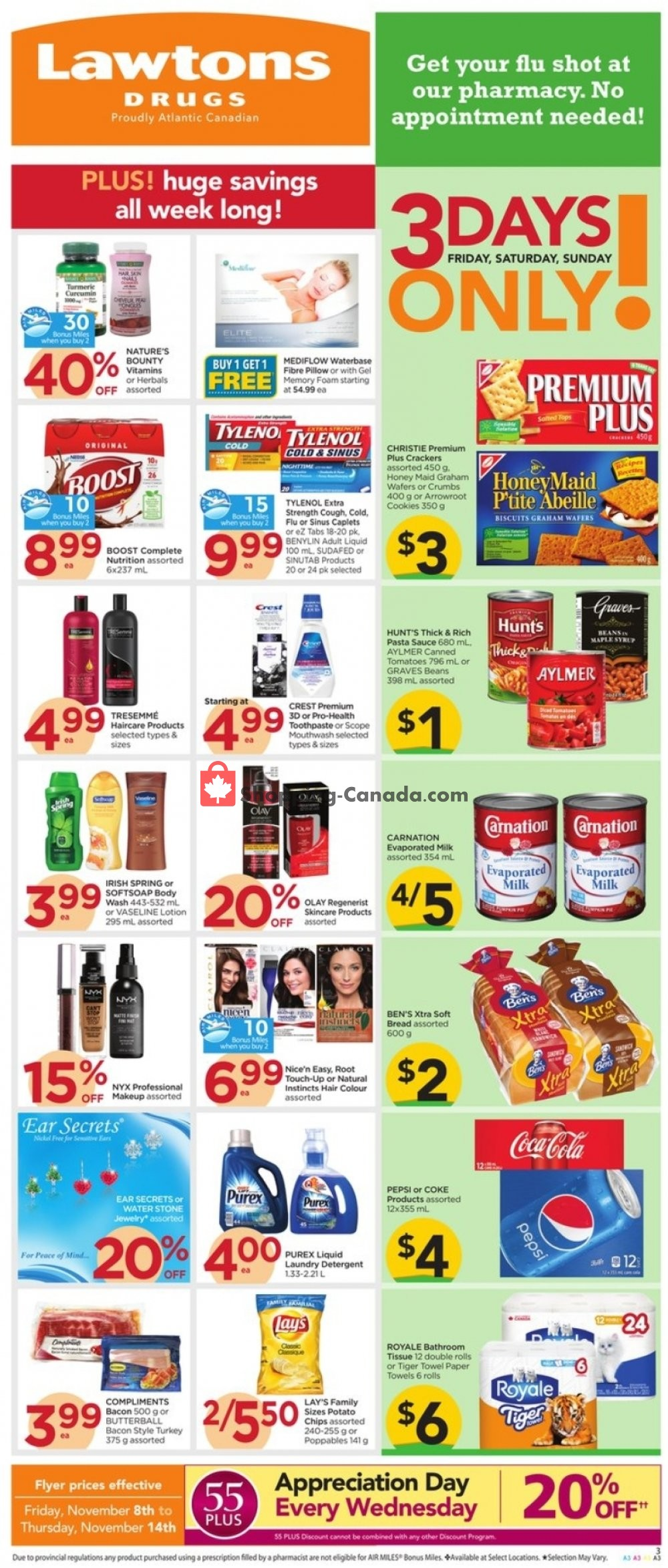 Flyer Lawtons Drugs Canada - from Friday November 8, 2019 to Thursday November 14, 2019