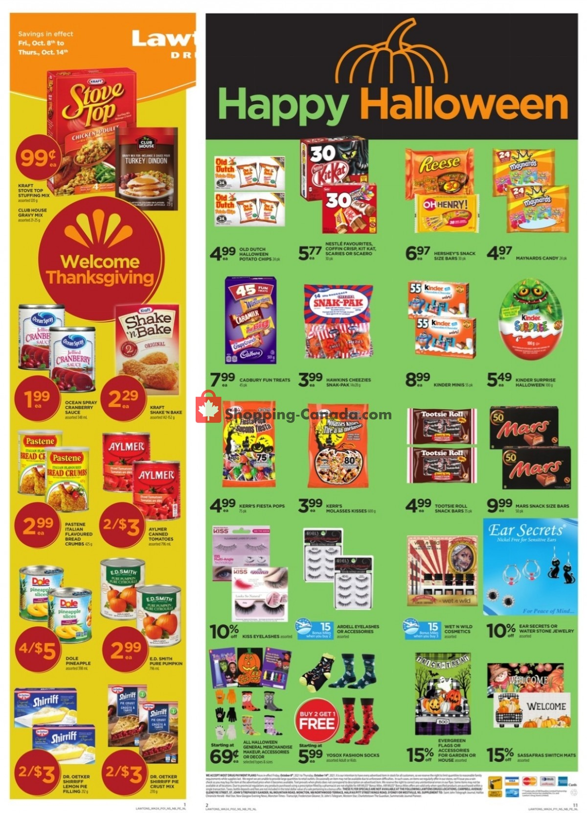 Flyer Lawtons Drugs Canada - from Friday October 8, 2021 to Thursday October 14, 2021