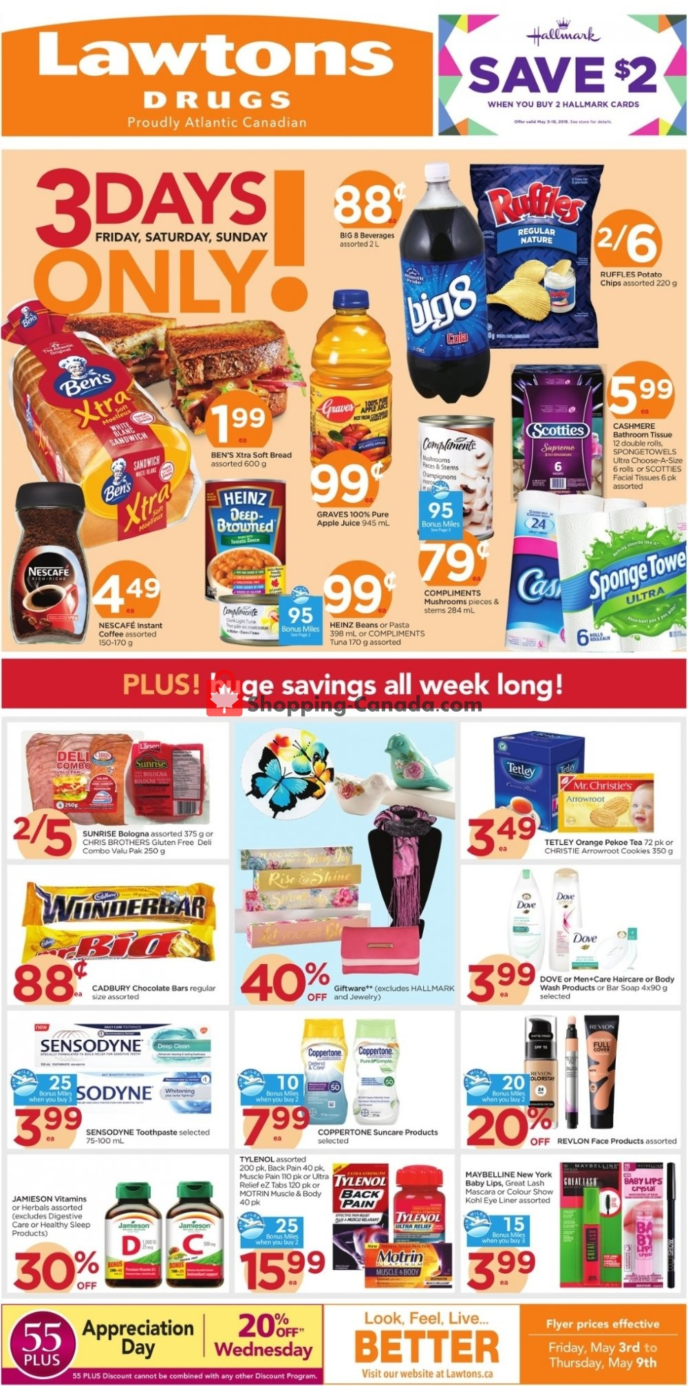 Flyer Lawtons Drugs Canada - from Friday May 3, 2019 to Thursday May 9, 2019