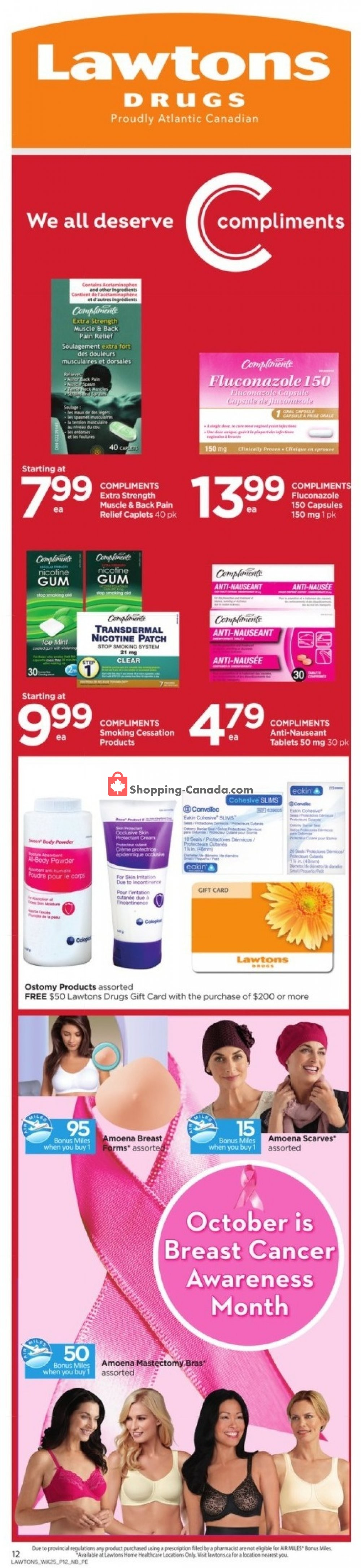 Flyer Lawtons Drugs Canada - from Friday October 16, 2020 to Thursday October 22, 2020
