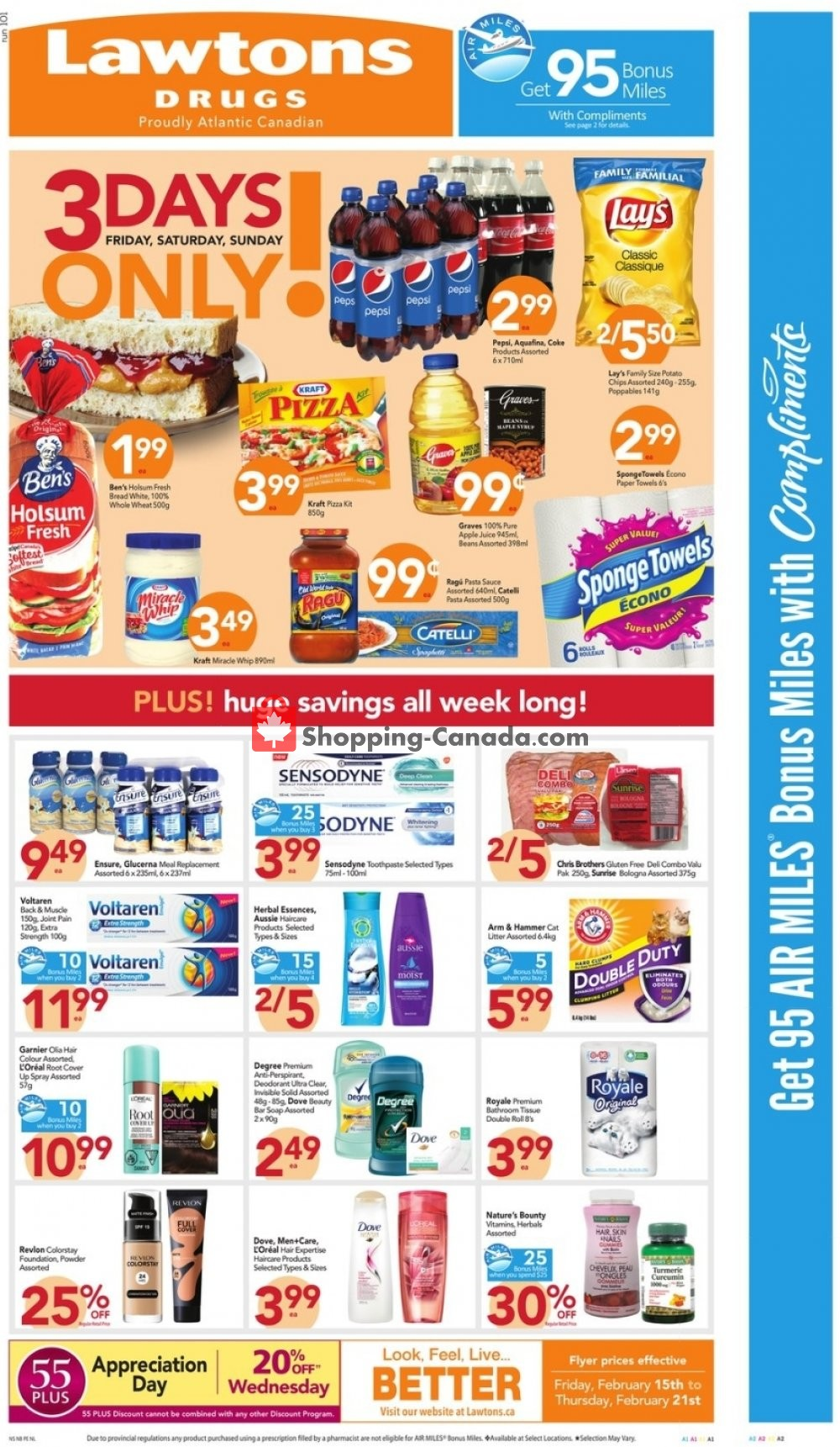 Flyer Lawtons Drugs Canada - from Friday February 15, 2019 to Thursday February 21, 2019