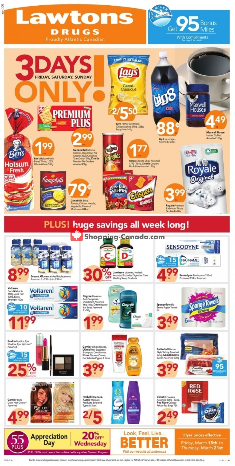 Flyer Lawtons Drugs Canada - from Friday March 15, 2019 to Thursday March 21, 2019
