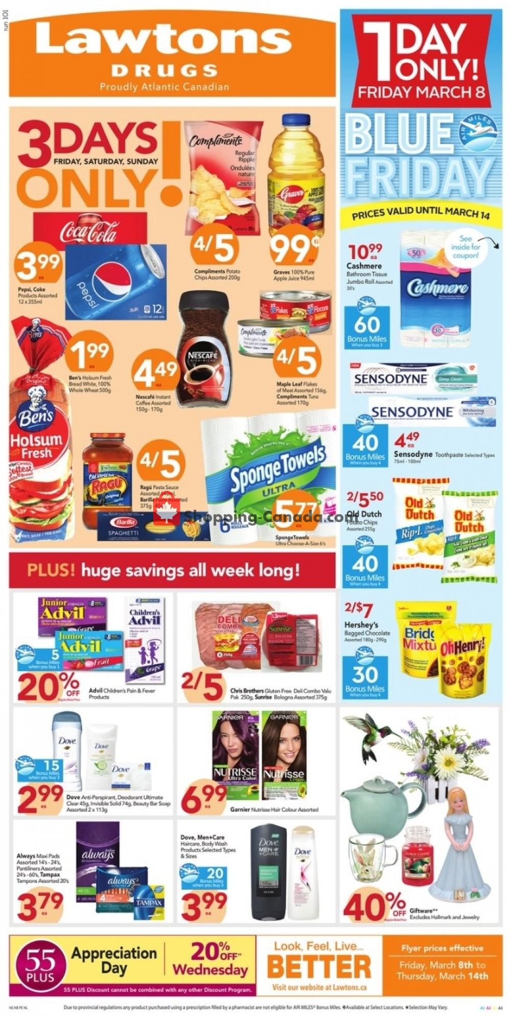 Flyer Lawtons Drugs Canada - from Friday March 8, 2019 to Thursday March 14, 2019