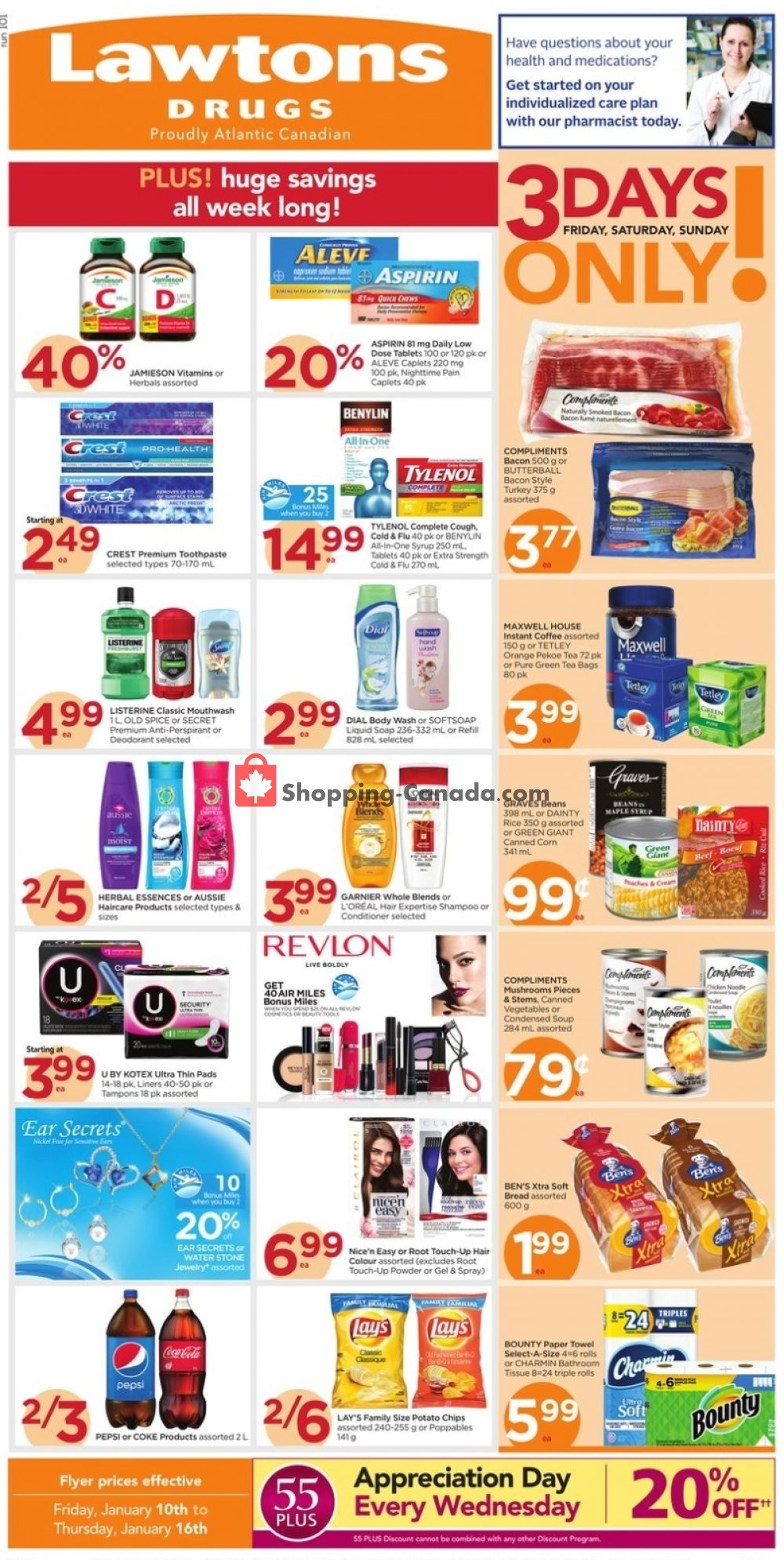 Flyer Lawtons Drugs Canada - from Friday January 10, 2020 to Thursday January 16, 2020