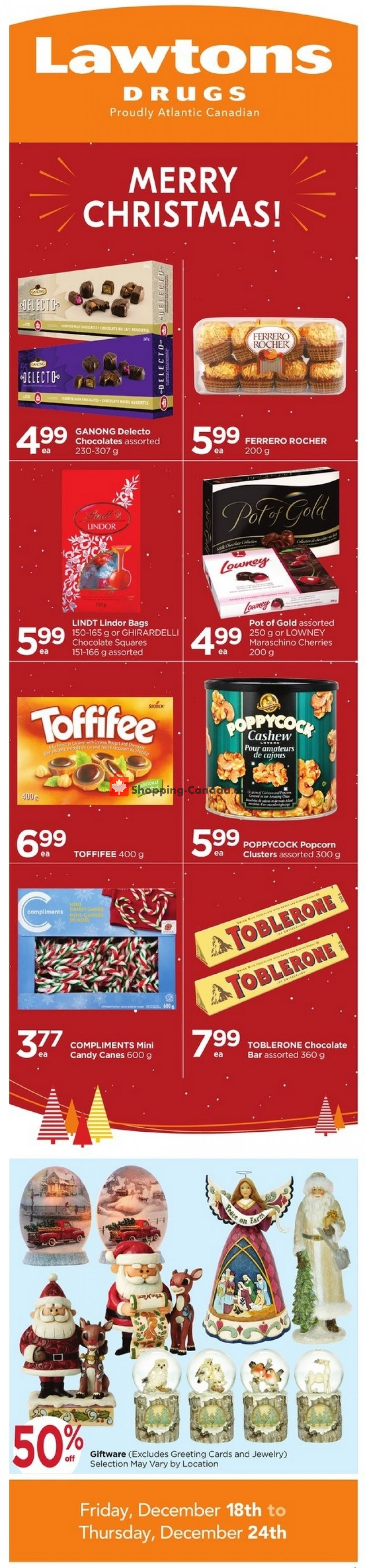 Flyer Lawtons Drugs Canada - from Friday December 18, 2020 to Thursday December 24, 2020