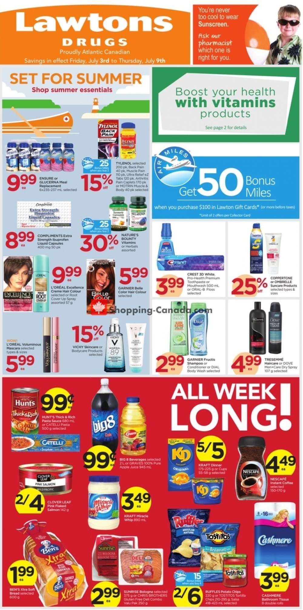 Flyer Lawtons Drugs Canada - from Friday July 3, 2020 to Thursday July 9, 2020