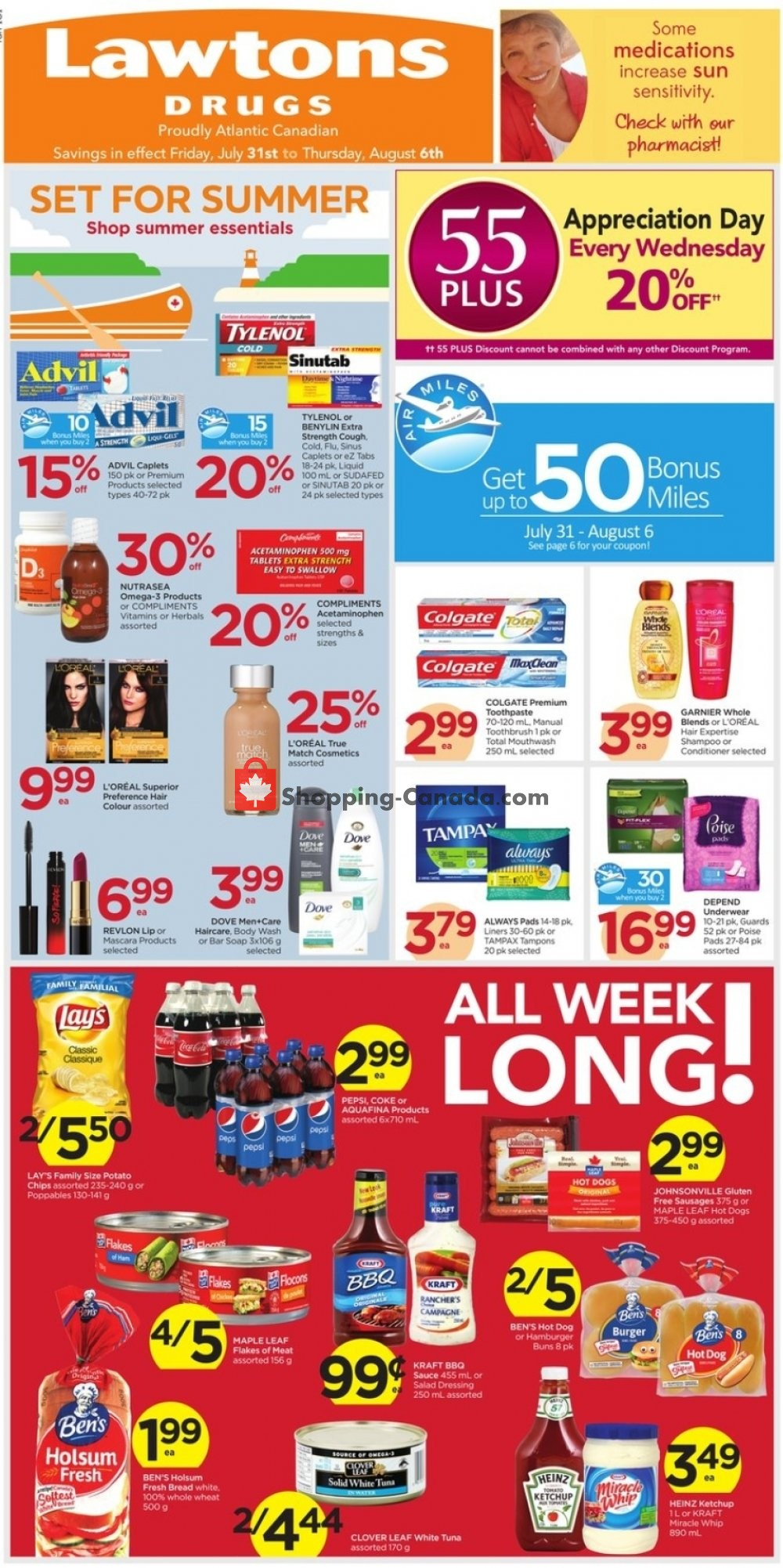 Flyer Lawtons Drugs Canada - from Friday July 31, 2020 to Thursday August 6, 2020