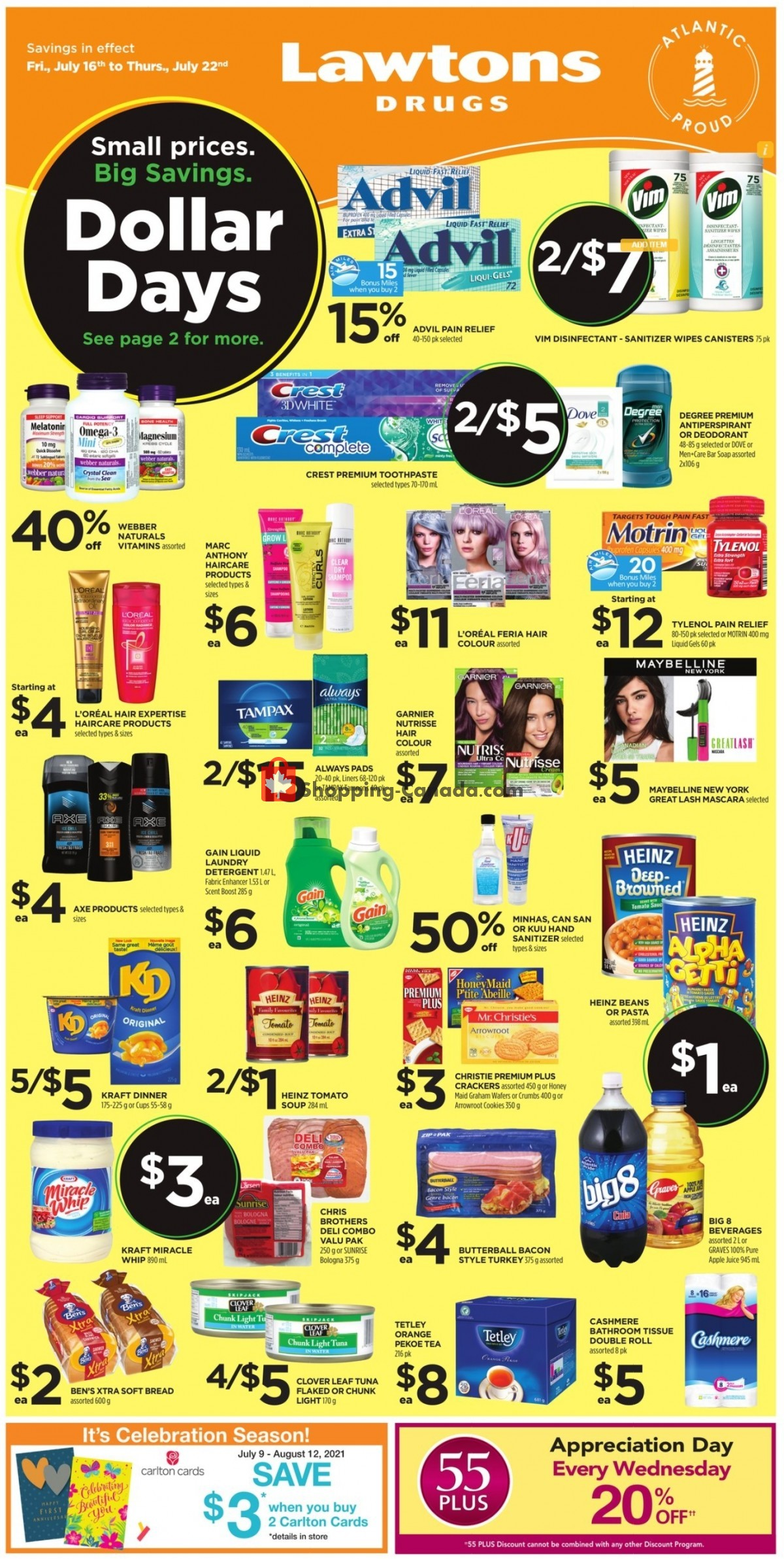 Flyer Lawtons Drugs Canada - from Friday July 16, 2021 to Thursday July 22, 2021