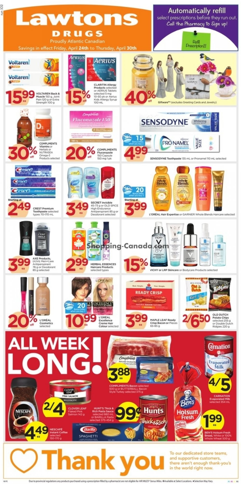 Flyer Lawtons Drugs Canada - from Friday April 24, 2020 to Thursday April 30, 2020