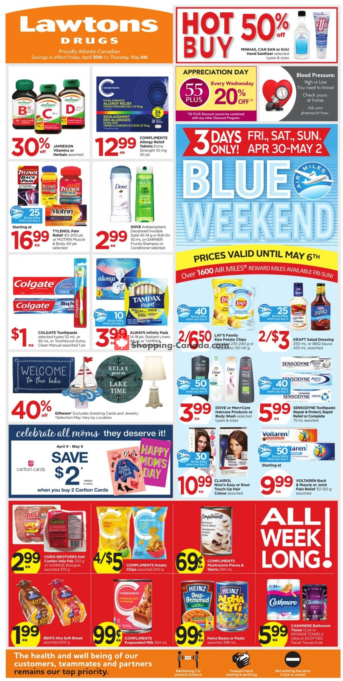 Flyer Lawtons Drugs Canada - from Friday April 30, 2021 to Thursday May 6, 2021