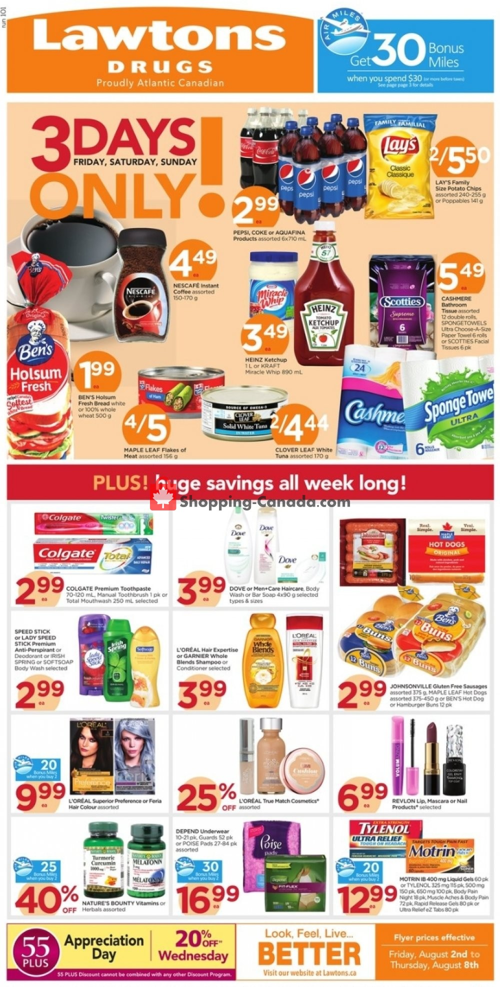 Flyer Lawtons Drugs Canada - from Friday August 2, 2019 to Thursday August 8, 2019