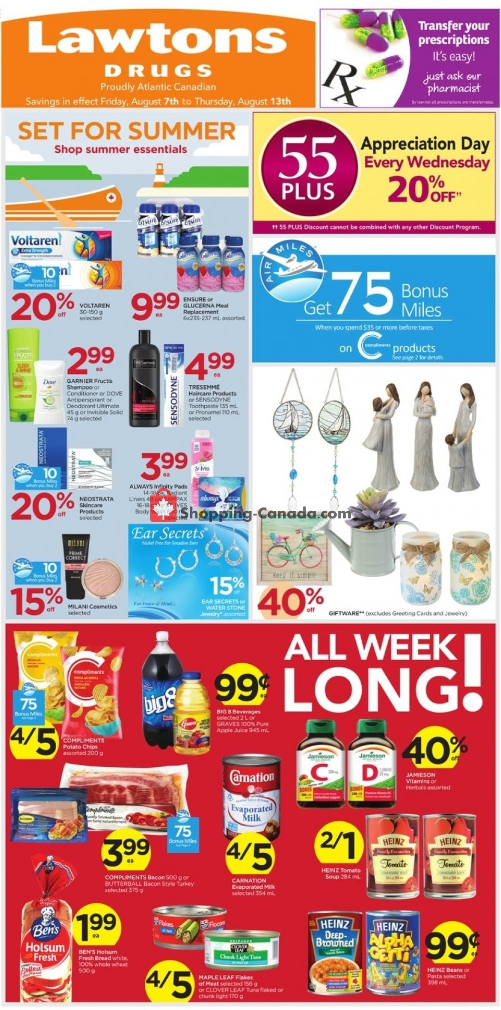 Flyer Lawtons Drugs Canada - from Friday August 7, 2020 to Thursday August 13, 2020