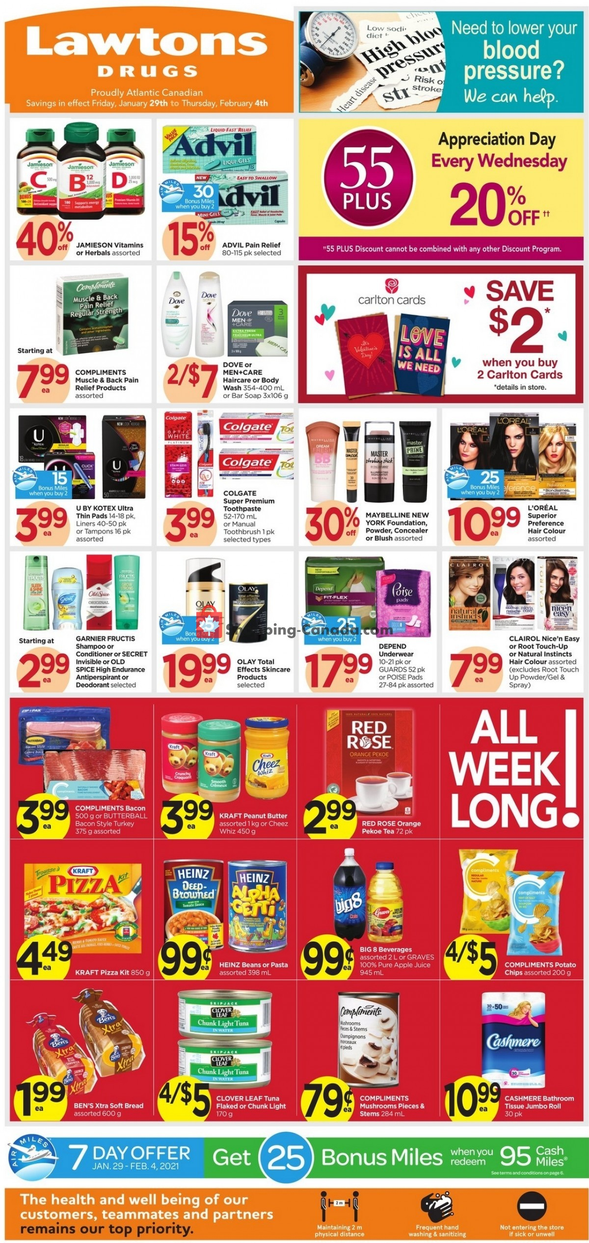 Flyer Lawtons Drugs Canada - from Friday January 29, 2021 to Thursday February 4, 2021