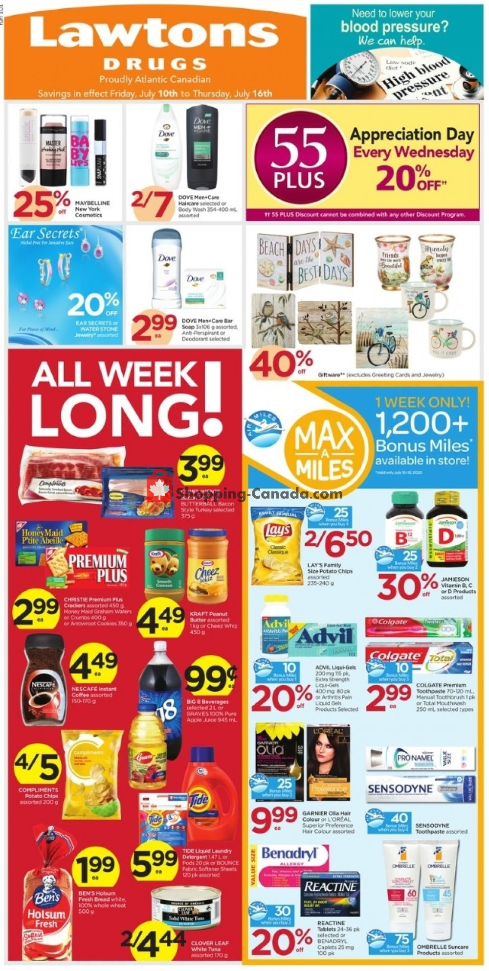 Flyer Lawtons Drugs Canada - from Friday July 10, 2020 to Thursday July 16, 2020