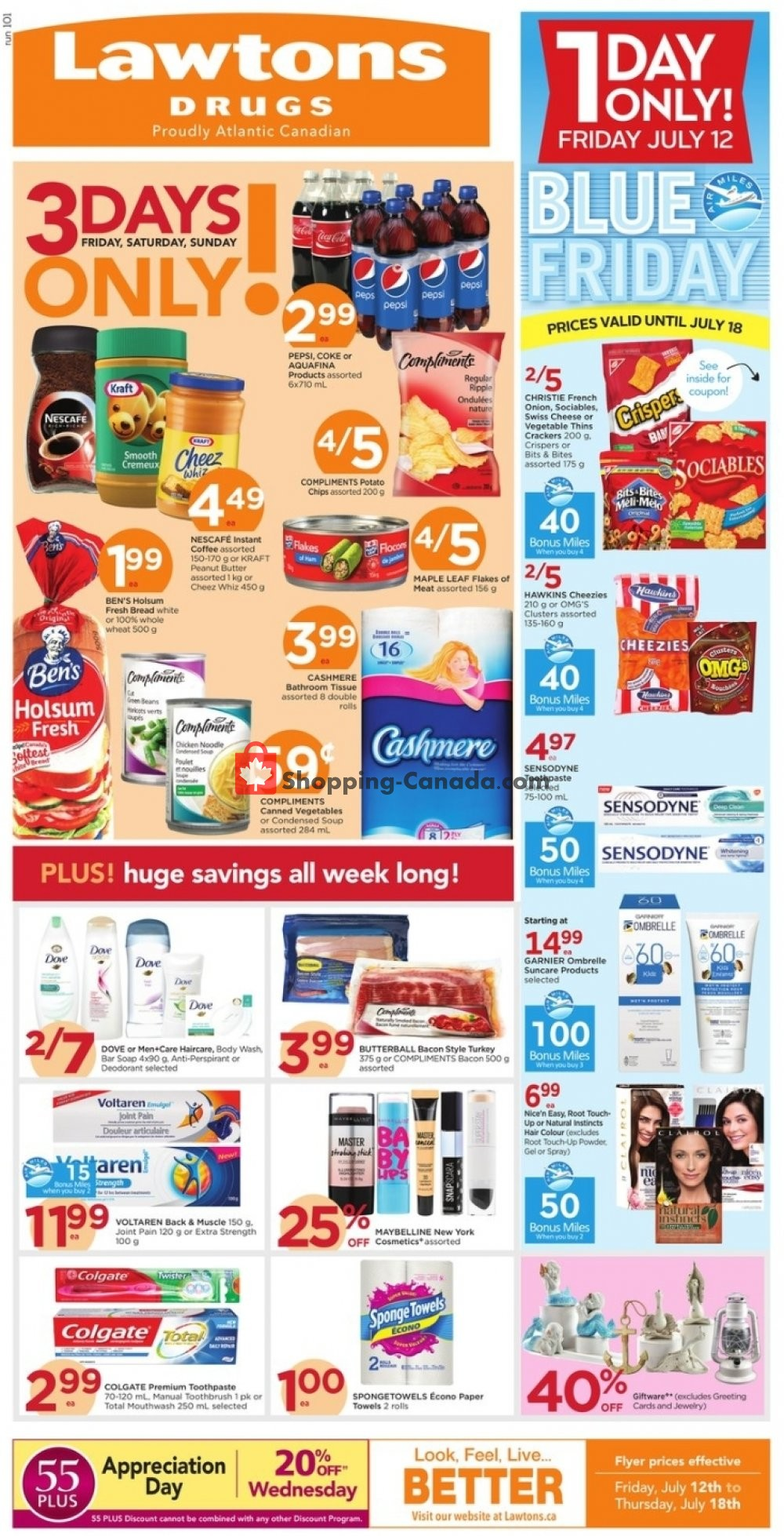 Flyer Lawtons Drugs Canada - from Friday July 12, 2019 to Thursday July 18, 2019