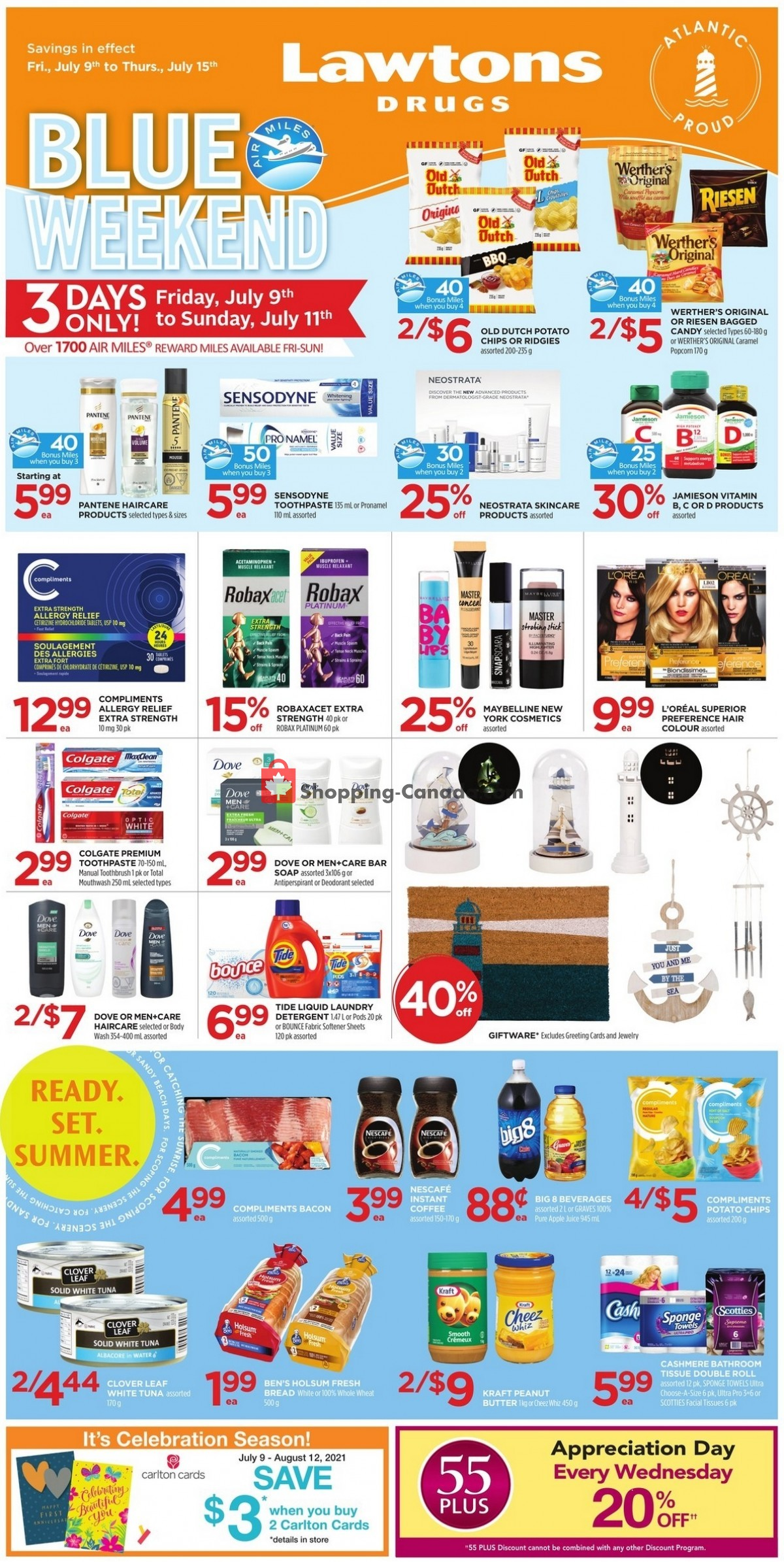Flyer Lawtons Drugs Canada - from Friday July 9, 2021 to Thursday July 15, 2021