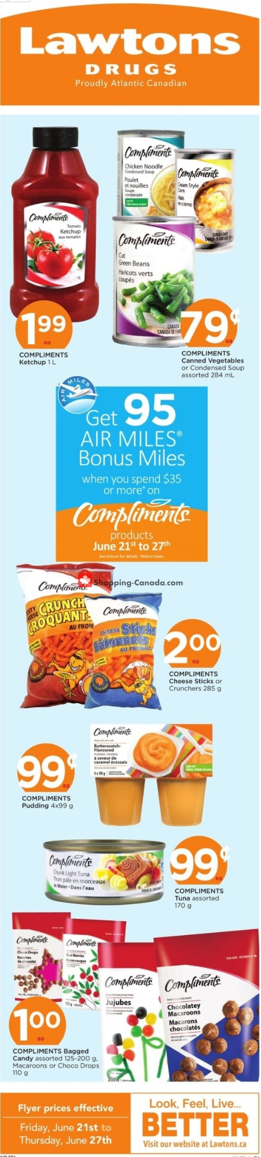 Flyer Lawtons Drugs Canada - from Friday June 21, 2019 to Thursday June 27, 2019