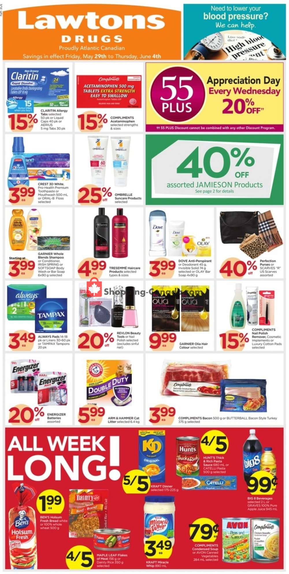 Flyer Lawtons Drugs Canada - from Friday May 29, 2020 to Thursday June 4, 2020