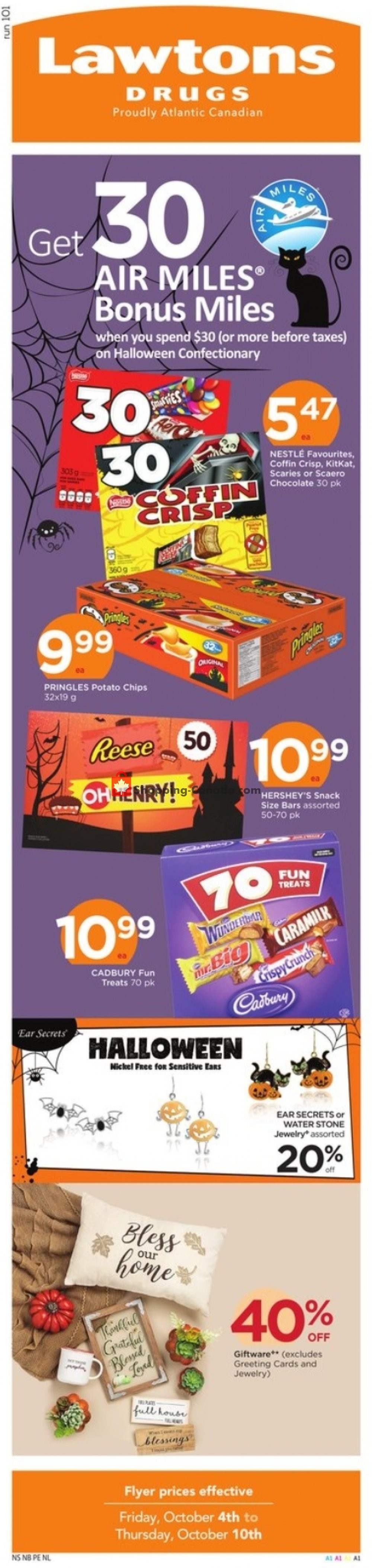 Flyer Lawtons Drugs Canada - from Friday October 4, 2019 to Thursday October 10, 2019