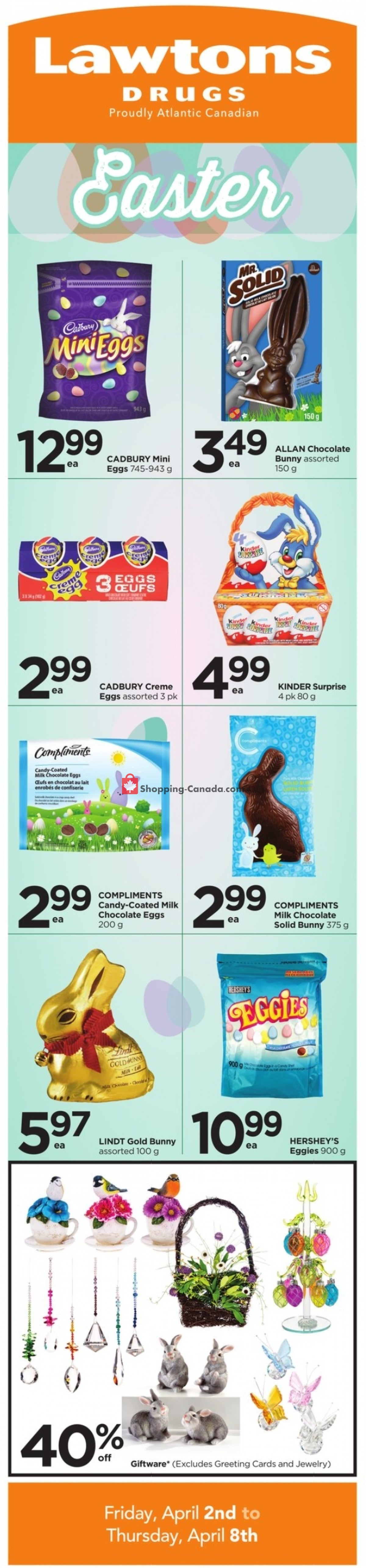 Flyer Lawtons Drugs Canada - from Friday April 2, 2021 to Thursday April 8, 2021