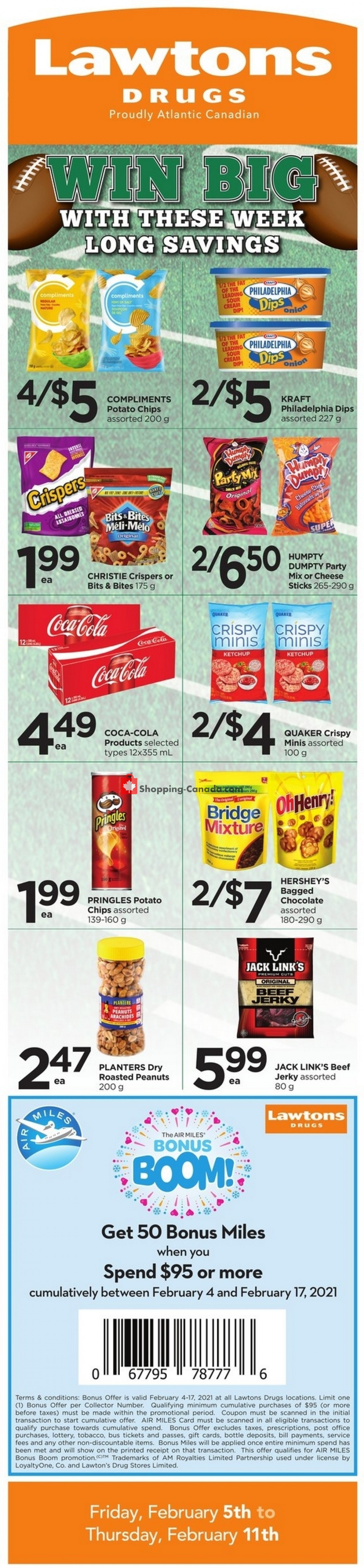 Flyer Lawtons Drugs Canada - from Friday February 5, 2021 to Thursday February 11, 2021