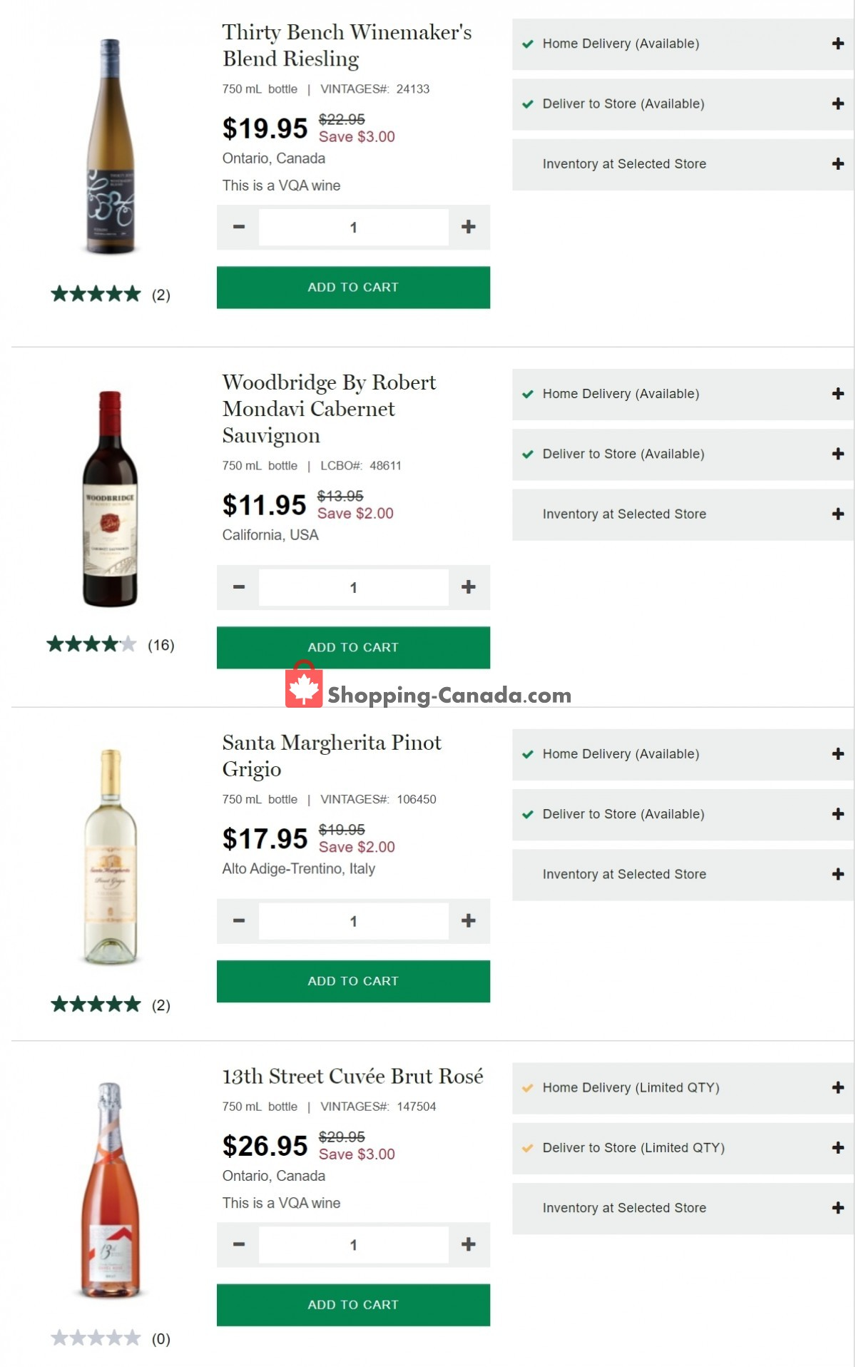 Flyer LCBO Canada - from Thursday July 15, 2021 to Wednesday July 21, 2021