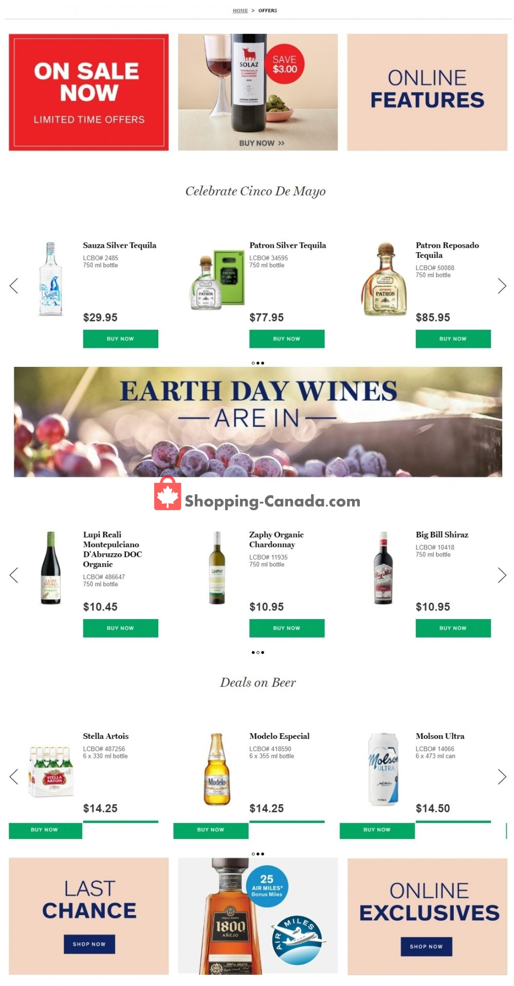 Flyer LCBO Canada - from Tuesday April 21, 2020 to Monday April 27, 2020