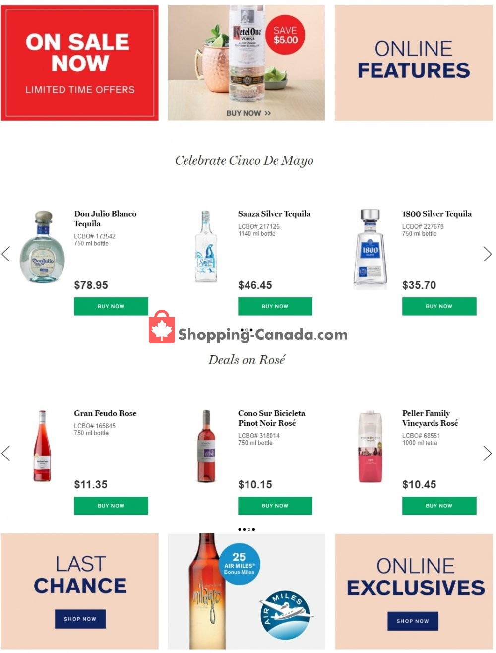 Flyer LCBO Canada - from Tuesday April 28, 2020 to Monday May 11, 2020