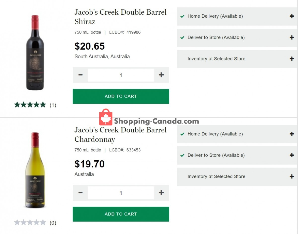 Flyer LCBO Canada - from Thursday May 6, 2021 to Wednesday May 12, 2021