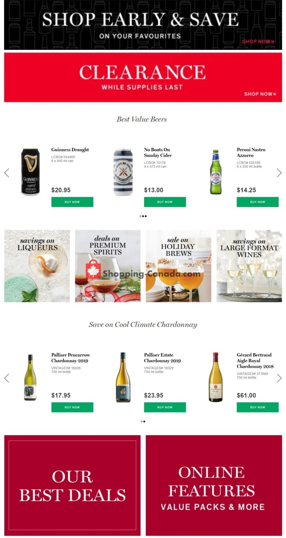 Flyer LCBO Canada - from Thursday November 26, 2020 to Wednesday December 2, 2020