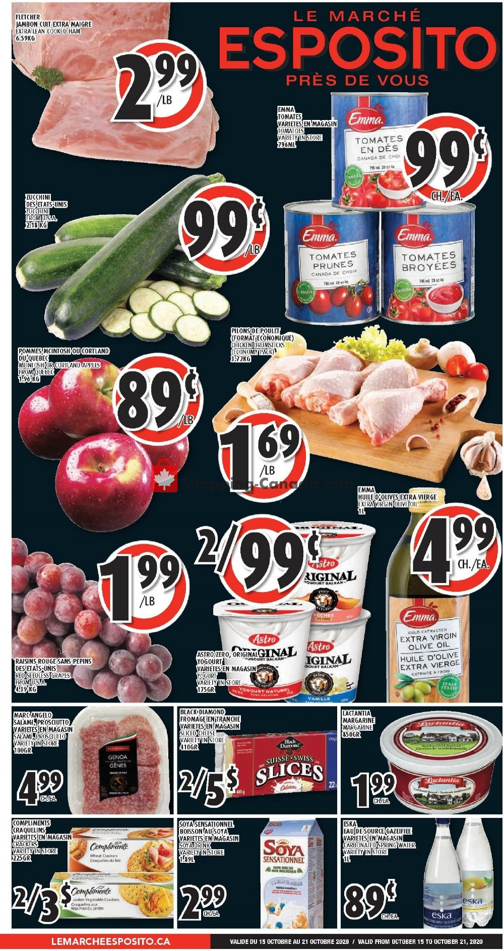 Flyer Le Marché Esposito Canada - from Thursday October 15, 2020 to Wednesday October 21, 2020
