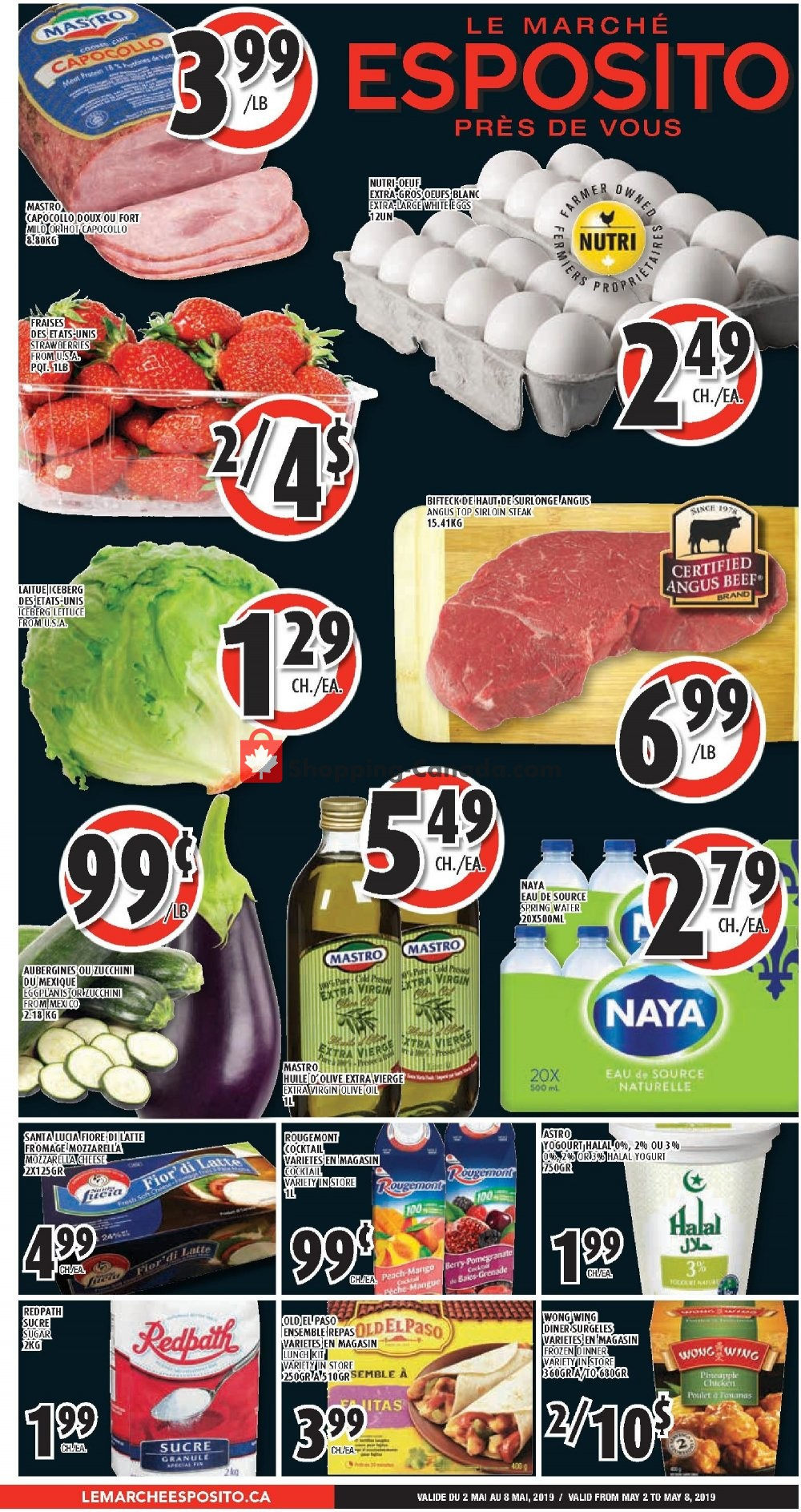 Flyer Le Marché Esposito Canada - from Thursday May 2, 2019 to Wednesday May 8, 2019