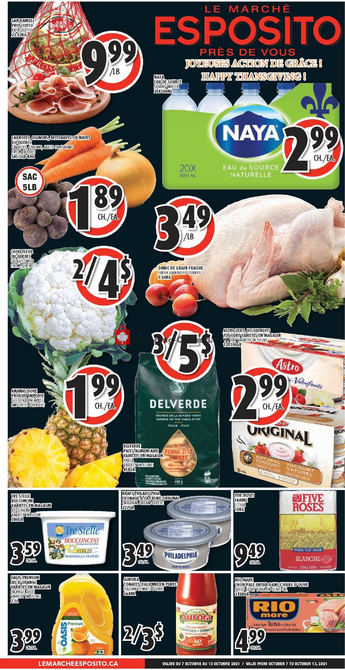 Flyer Le Marché Esposito Canada - from Thursday October 7, 2021 to Wednesday October 13, 2021